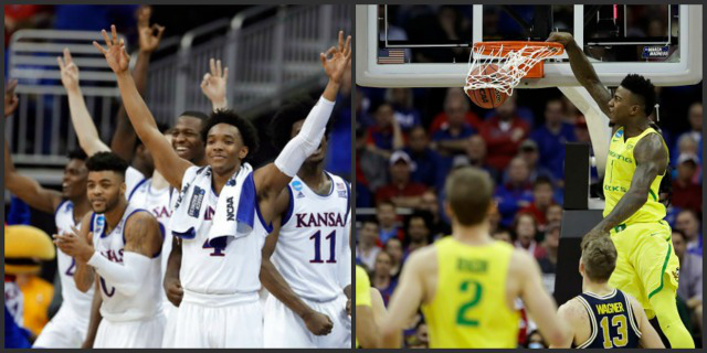 Kansas vs Oregon Elite 8 Preview