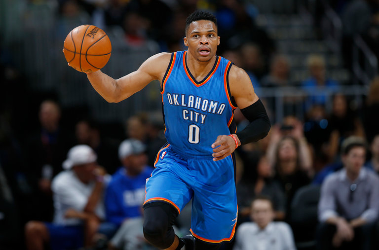 Russell Westbrook notches 41st triple-double of season; ties all time mark