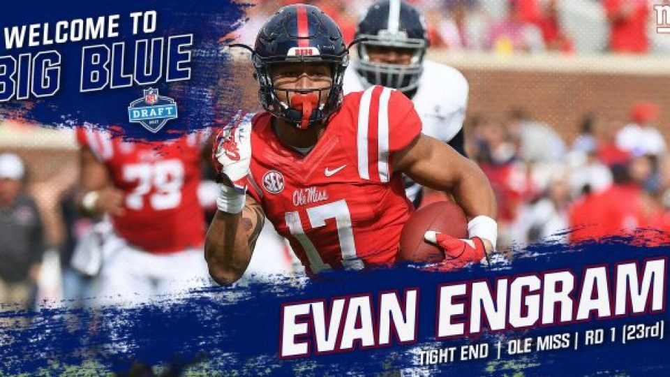 The New York Giants select EvanEngram