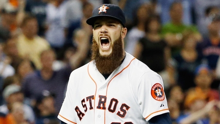 HOUSTON, TX - JUNE 25: Dallas Keuchel #60 of the Houston Astros celebrates after a complete-game shutout as the Astros defeated the New York Yankees 4-0 at Minute Maid Park on June 25, 2015 in Houston, Texas. (Photo by Scott Halleran/Getty Images)
